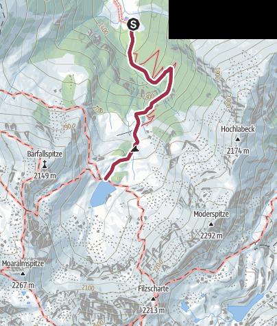 Karte / Moaralmsee