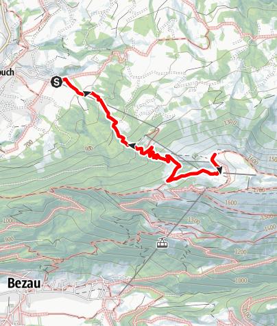 Karte / Andelsbuch | Auf den Hausberg Niedere