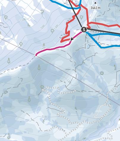 Karte / Winterwanderung Grenzstein retour