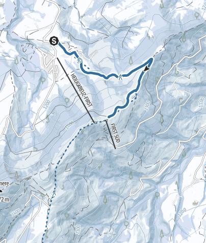 Karte / Schneeschuhtrail Heiligkreuz - Kleine First - First