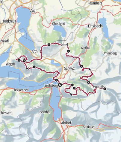 Karte / Schwyzer Tal- & Gipfeltour