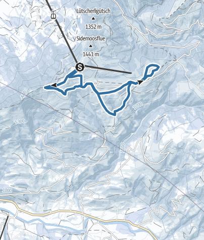 Karte / Schneeschuhtrail Marbachegg-Kreuzegg