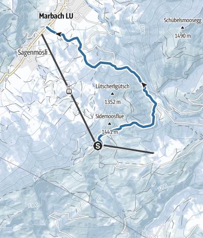 Map / Schneeschuhtrail Marbachegg-Marbach