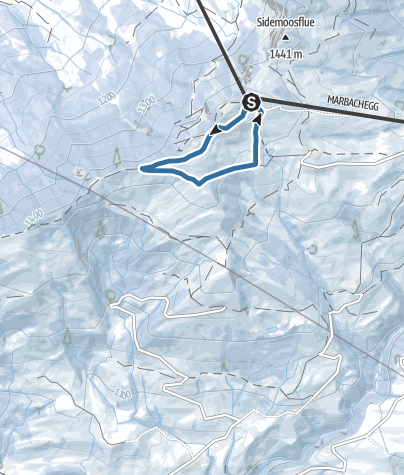 Karte / Schneeschuhtrail Rundweg Marbachegg