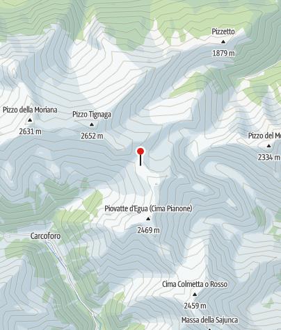 Karte / Bivacco Col d'Egua Volpone-Sesone