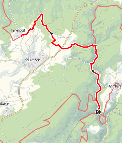 Karte / Saar-Hunsrück-Steig - 25. Etappe: Grimburgerhof – Stausee Kell
