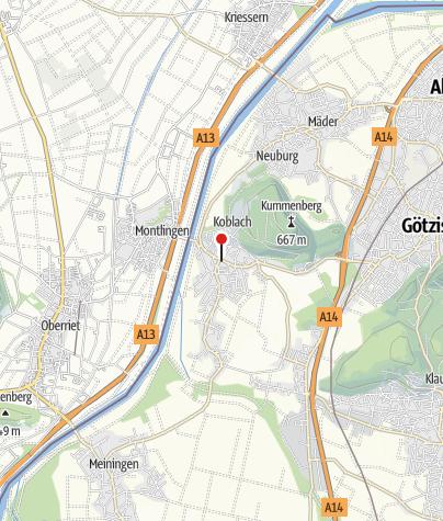 """Karte / Museum """"Urgeschichte in Koblach"""""""