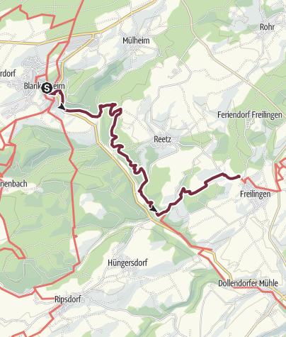 Karte / AhrSteig Etappe 1: Blankenheim - Freilinger See