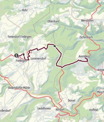 Karte / AhrSteig Etappe 2: Freilinger See - Aremberg
