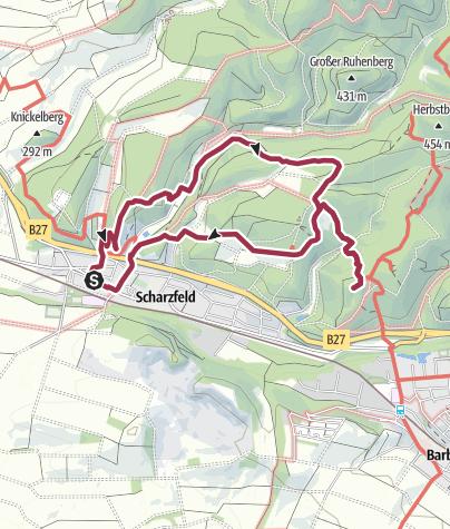 Karte / Über Steinkirche und Einhornhöhle zur Burgruine Scharzfels