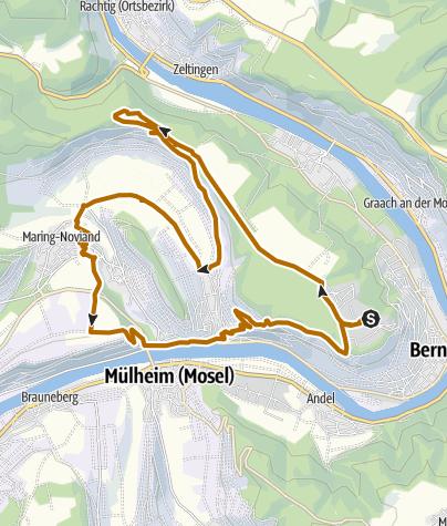Karte / Maringer Schweiz - Lieser - Nordic Walking Route
