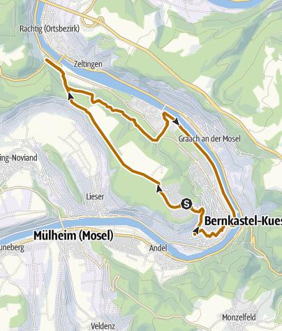"Karte / Dreifaltigkeit - Kues"" - Nordic Walking Route"