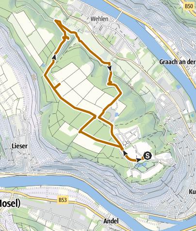 Karte / Wehlener Naturschutzgebiet - Nordic Walking Route