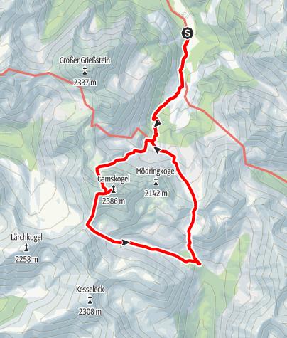 Karte / Gamskogel - Krugsee