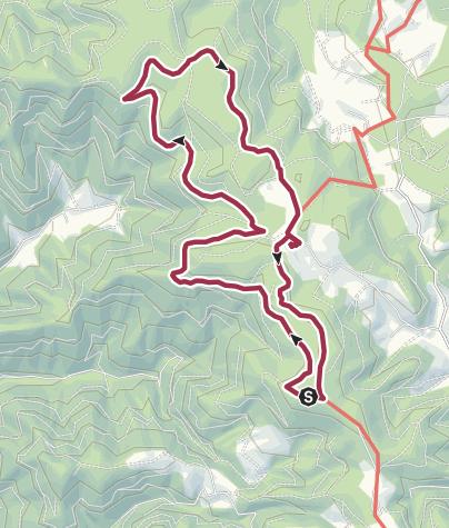 Karte / Zwischen Brend und Rohrhardsberg - auf der Wasserscheide von Donau und Rhein