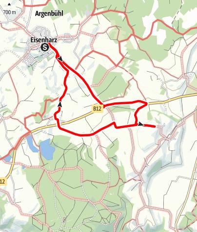 Karte / Argenbühl - Aphorismen- und Zitate Wanderweg St. Exupéry für Familien und Rollstuhlfahrer