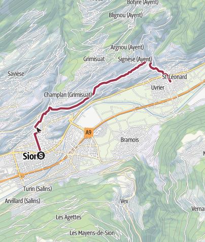 Map / Von Sion durch die Rebberge nach St-Léonard