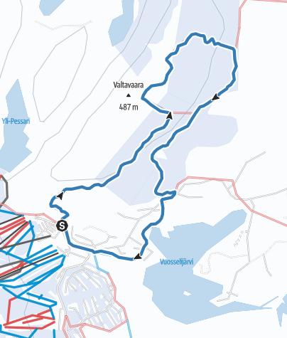 Map / Valtavaara Ski Trail 12 km, Ruka Ski Resort, Kuusamo