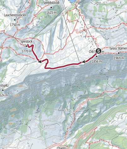 Karte / Höhenweg Hoch-Ybrig