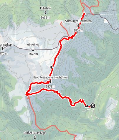 Karte / Salzburger Hochthron über den Berchtesgadener