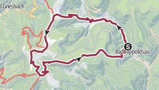 Karte / Von Bad Rippoldsau zum wildromantischen Glaswaldsee