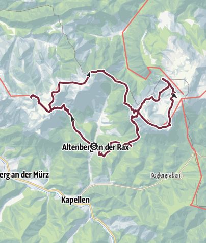 Karte / Weg der Sonne - Variante Naturpark Mürzer Oberland