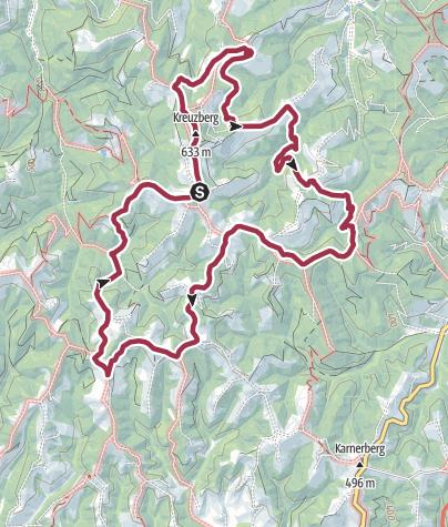 Karte / Der wanderbare Kreuzberg