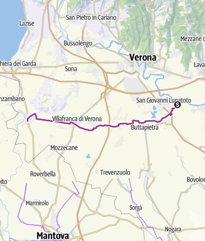 Cartina / Ciclovia delle Risorgive nella pianura veronese