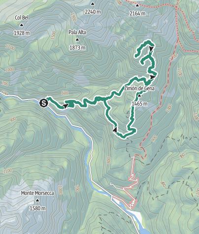 Cartina / Zéngia de Squarà – Col dei Gai – Zimón de Géna