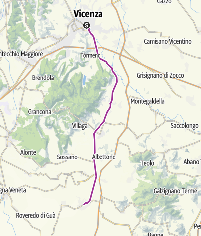 Cartina / Lungo la pista ciclabile della Riviera Berica