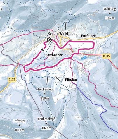 Karte / Winterwanderweg Kaiserblick