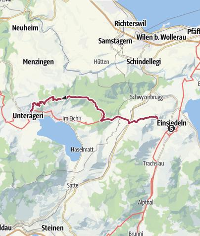 Karte / Alpenpanoramaweg Einsiedeln-Unterägeri