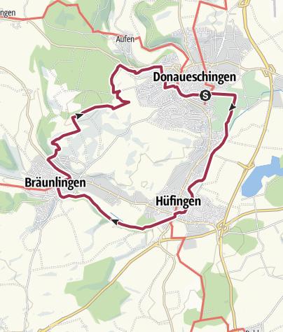 Karte / ParadiesTour Quellregion Donau-Runde: zwischen Brigach und Breg