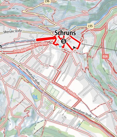 Karte / Kunst- und kulturhistorischer Dorfrundenweg Schruns (groß)