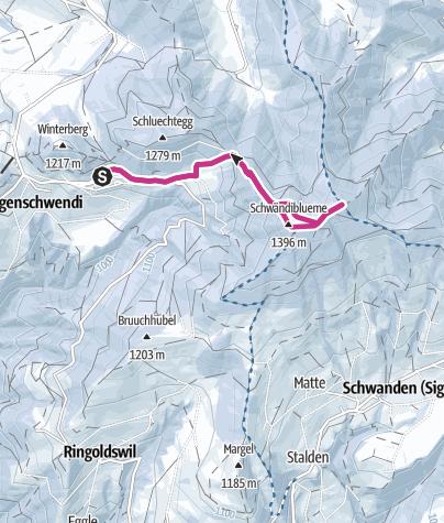 Map / Von Heiligenschwendi zum Aussichtsturm Blueme