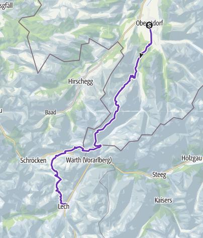 Karte / TRANSALPINE RUN 2019 1. Etappe