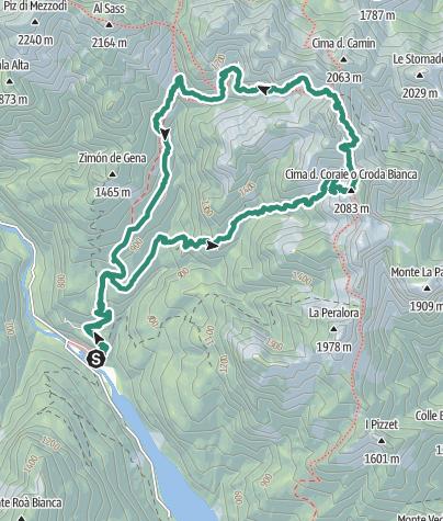 Cartina / Forzèla de la Caza Granda e Forzèla dei Pón