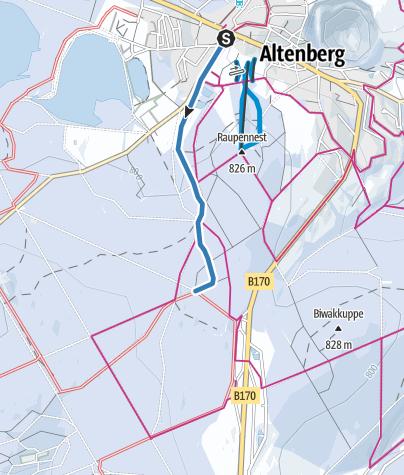 Map / Z1 - Loipenzubringer 1 - Altenberg/Kahleberggebiet