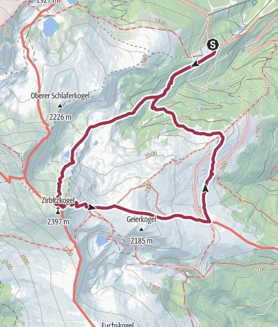 Karte / Von der Sabathyhütte eine Runde um den Zirbitzkogel