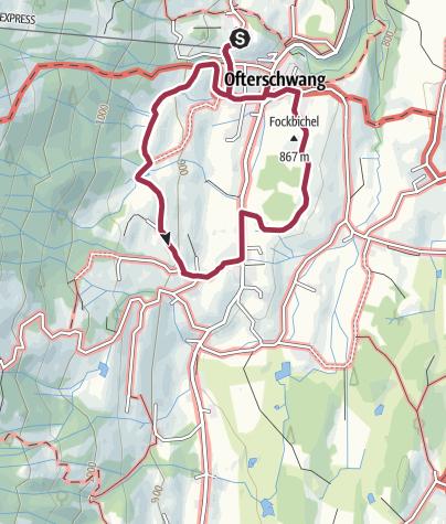 Karte / Hochwiesweg Runde - Spazierweg in Ofterschwang