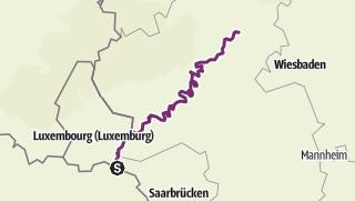 Karte / Mosel-Radweg von Thionville bis Koblenz