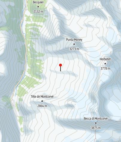 Karte / Rifugio Federcio Chabod
