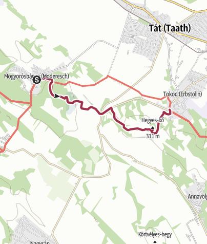 Térkép / Rövid szirtút a Gerecse peremén