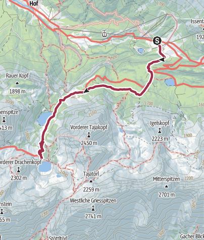 מפה / טיול לאגמים זבנזה ודרכנזה בארוולד (Ehrwald)