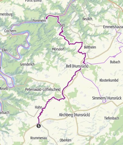 Karte / Hunsrück-Mosel-Radweg