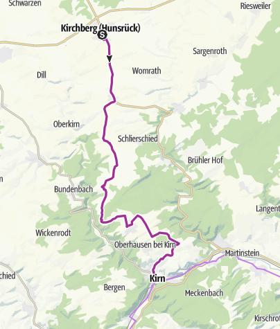 Karte / Lützelsoon-Radweg