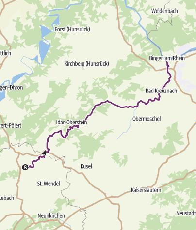 Karte / Nahe-Radweg