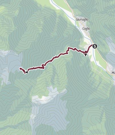 Cartina / Tappa 1: Lodano-Castello-Alpe Canaa