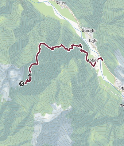 Cartina / Tappa 2: Alpe Canaa-Alpe di Pii-Soláda d Zóra-Lodano