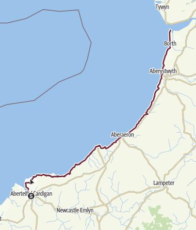 Karte / Ceredigion Coast Path